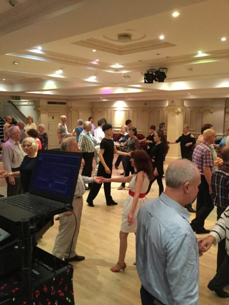Dancers enjoying a night of social dancing